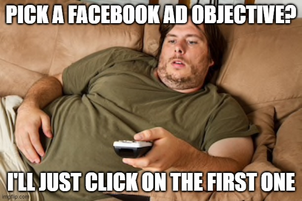 slacking on your Facebook objective meme